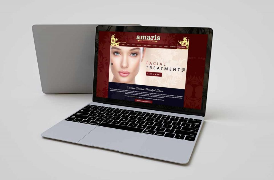 Amaris Spa Web Design