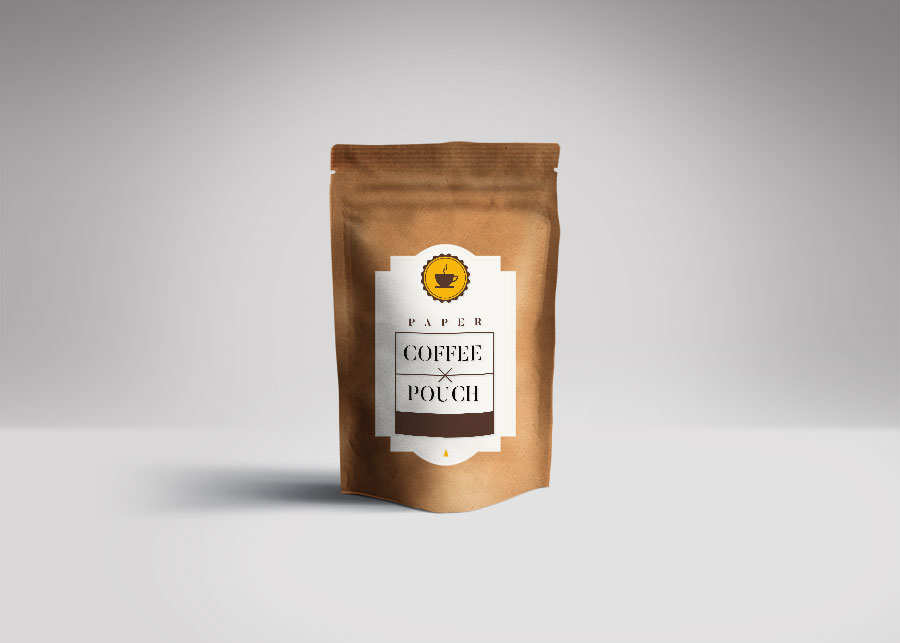 Paper Coffee Bag Mockup