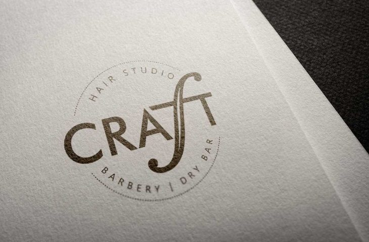 Craft Hair Studio Logo Design