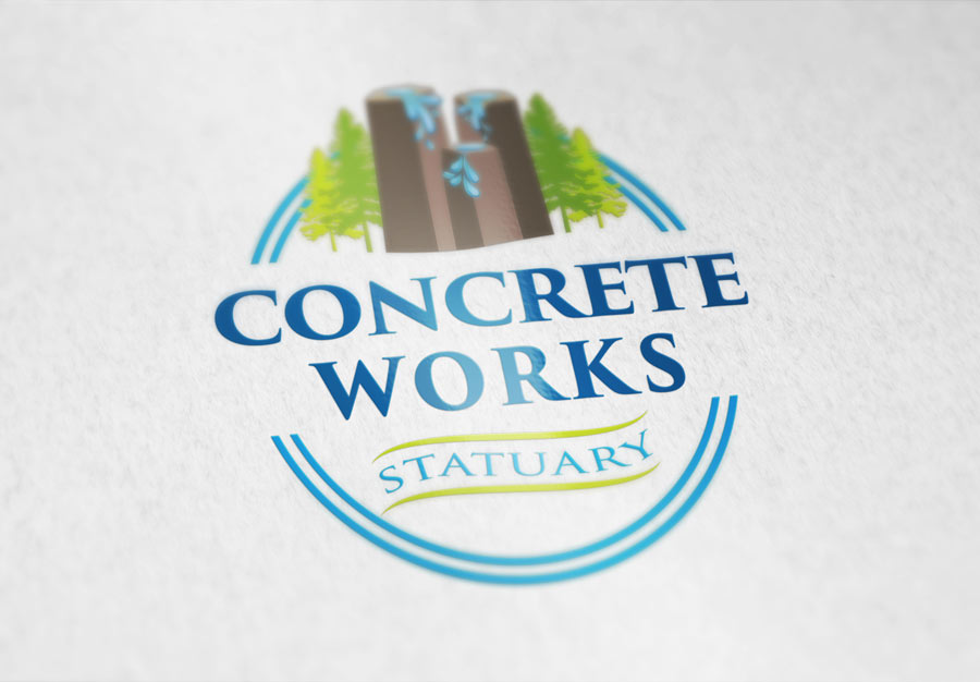 Concrete Works Statuary Logo Design